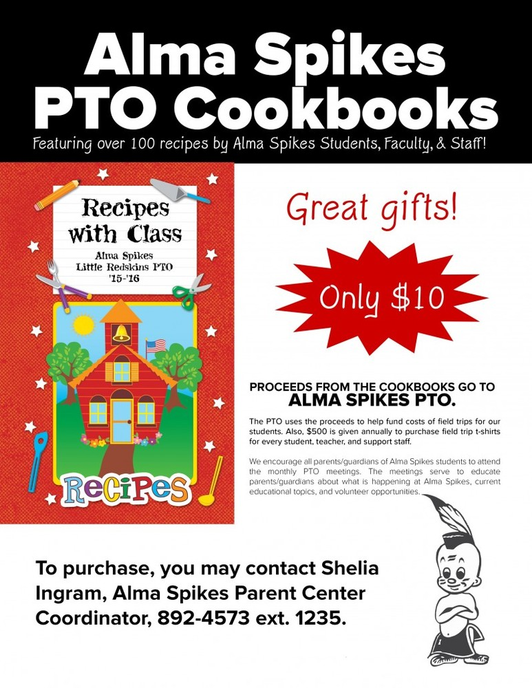 Alma Spikes Cookbook Sale